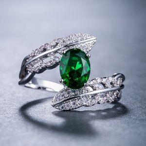 Marquise Cut Emerald  925 Silver